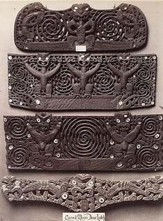 Carved Maori door Lintels II by John R Morris Ancient Aliens, Ancient Art, Ancient History, Maori Symbols, Maori Patterns, Maori People, Maori Designs, Aboriginal Culture, Maori Art