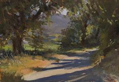 Daily paintings   Chemin des Cheminades   Postcard from Provence