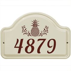 Personalized Ceramic Street Number Plaque