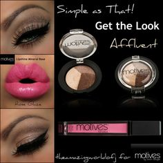 www.motivescosmetics.com/maryben Motives Baked mineral trio Affluent & motives Rose glaze lipgloss