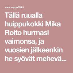 Tällä ruualla huippukokki Mika Roito hurmasi vaimonsa, ja vuosien jälkeenkin he syövät mehevää kylmäsavulohi-äyriäispastaa säännöllisesti. Risotto