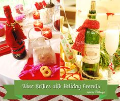 Tips for decorating wine bottles for Christmas as gifts