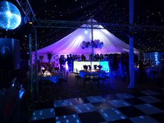 Starcloth makes a great effect lining a marquee for parties. http://www.beupstanding.co.uk/gallery.html
