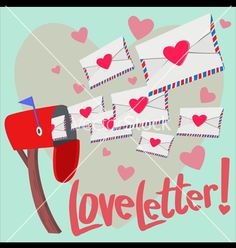 Love letter vector valentine's day by OhArt on VectorStock®