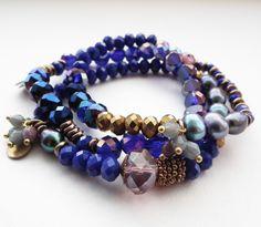 STUDIO NOLDS Sieraden - Indigo bracelet Indigo, Handmade Jewelry, Beaded Bracelets, Studio, Fashion, Moda, Indigo Dye, Handmade Jewellery, Fashion Styles