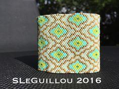 Manchette tissage peyote perles de verre japonaise SLeGuillou 2016