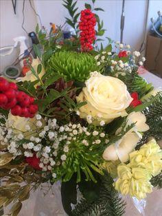 Seasonal Christmas luxury gift flower bouquet created by Willow House Flowers Aylesbury florist - www.willowhouseflowers.co.uk