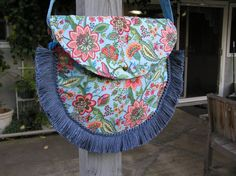Spring Garden Bag with Tassles and Crystals by TrishasTreasure