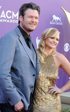 Blake Shelton and wife Miranda lambert