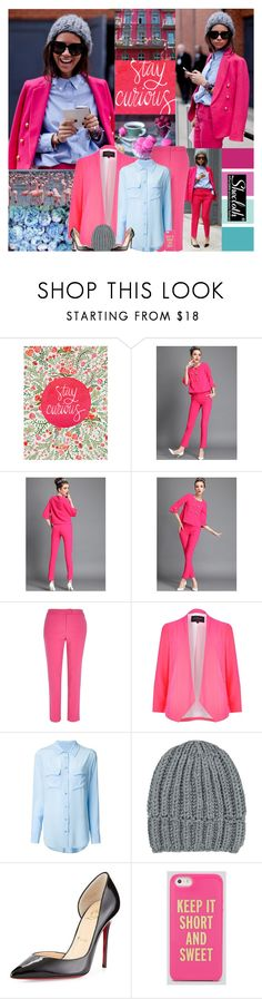 """""""Can you love me when the chips are down?"""" by leannesugarplum ❤ liked on Polyvore featuring River Island, Equipment, Wommelsdorff, Christian Louboutin and Kate Spade"""