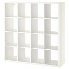 IKEA - KALLAX, Shelving unit, white, You can use the furniture as a room divider because it looks good from every angle. Etagere Kallax Ikea, Ikea Kallax Shelf Unit, Etagere Cube, Wall Shelf Unit, Ikea Kallax Regal, Wall Shelves, Ikea Shelving Unit, Glass Shelves, Ikea Kallax White