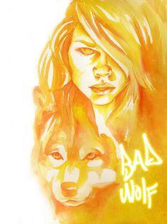 Doctor Who: Rose Tyler, Bad Wolf Art Print, Doctor Who Poster, Doctor Who Print, Bad Wolf Doctor Who Rose Tyler méchant loup par eringarey sur.