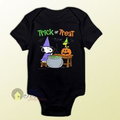 Snoopy Magic Trick or Treat Baby Onesie