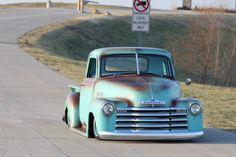 old pickup trucks 54 Chevy Truck, Chevy 3100, Chevy Pickups, Chevrolet Trucks, Bagged Trucks, Hot Rod Trucks, Gm Trucks, Cool Trucks, Lifted Trucks