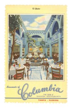 Columbia Restaurant, Tampa, Florida Premium Poster
