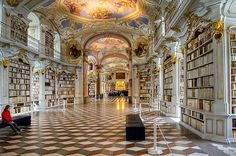 Admont Benedictine Monastery Library - Admont, Austria.   Inspiration for the Beauty & the Beast library? I think so.