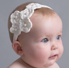 hand crochet baby headband by attic | notonthehighstreet.com