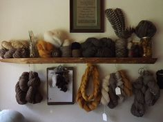 Knitting Iris - spring 2013 mantle | Flickr - Photo Sharing! Beautiful natural dyes.