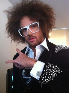 #redfoo formerly of #lmfao rocking his #custom @casey @ f. is for frank #cufflinks at the #2013 #grammys #style #fashion