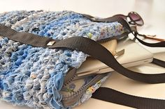 Hæklet taske af gamle jeans