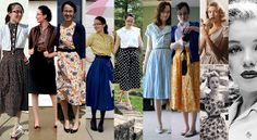 Love these modern 40s and 50s looks! #vintage #dresses