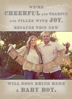 This sweet couple tried for 10 years to have a baby and finally were able to adopt a baby boy!!  I love that you can make adoption announcements!!! : ) This gives me hope!