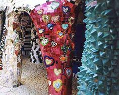 Pert of The Emperor in the Tarot Garden by Niki de Saint Phalle.  She is one of my favorite artists.