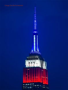 The EmpireStateBldg shines red, white & blue this Memorial Day Weekend. New York Bedroom, Tower Light, I Love Ny, Custom Lighting, Empire State Building, Memorial Day, New York City, Around The Worlds, Stanley Cup