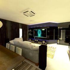 """""""...ultimamente tenho pensado que o conforto talvez seja o máximo de luxo"""", (Billy Baldwin) Sala de jantar e Sala de TV. #decoração #inspiração #designerdeinteriores #SJmoveisplanejados #design #designer #arquitetura #architecture #aconchegante #lardocelar"""
