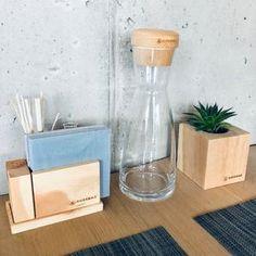 Zirben-Menage – nussbag Carafe, Glass Vase, Design, Home Decor, Coaster, Timber Wood, Decoration Home, Room Decor