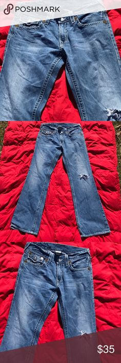 True religion billy 34 Great  Some items come from homes w pets and smokers I travel and will get back to u as soon as I land  Thank you True Religion Jeans