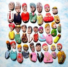 Familie van stenen voor kleuters
