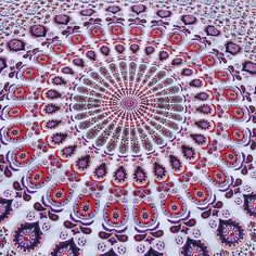A personal favorite from my Etsy shop https://www.etsy.com/listing/290540257/mandala-wall-hanging-or-bed-spread-queen