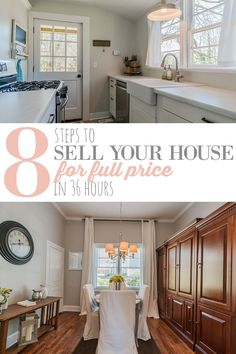 Great home staging tips to sell you house fast. Home staging before after photos. This girl sold her house fast for full price two times.