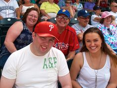 My Family, Wife Susan with me and children Richie front left and Julia front right. At baseball game Allentown PA 6.29.14