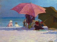The Shade -  Edward Henry Potthast  ca. 1920 -   American , 1879-1881