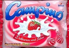 Campino - again apologies for German packaging but these had a delicious strawberry and cream flavour.