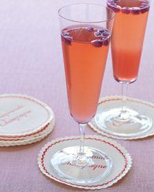 Wedding Signature Drinks  Pomegranate Champagne