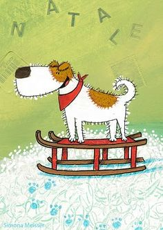 Christmas dog by artist SIMONA MEISSER