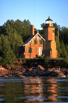 The Sand Island Lighthouse in Wisconsin is considered one of the most beautiful lighthouses on Lake Superior. www.facebook.com/loveswish