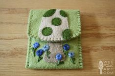Free Felt Patterns and Tutorials: Free Felt Pattern > Toadstool Business Card…