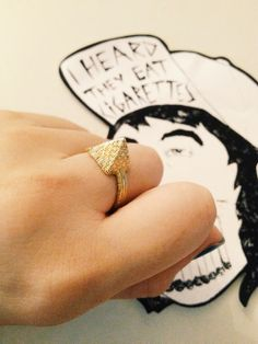 Pyramid Ring !! Available Online At www.iheardtheyeatcigarettes.com