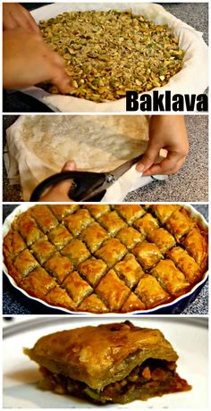 Learn how to make the traditional Pistachio Baklawa.  http://www.ifood.tv/recipe/pistachio-baklawa