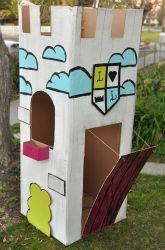 Preschool Construction & Sculpture Activities: Construct a Kid Size Cardboard Castle