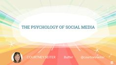 The Psychology of Social Media: The Deep Impulses That Drive Us Online ~ Social Media Spider