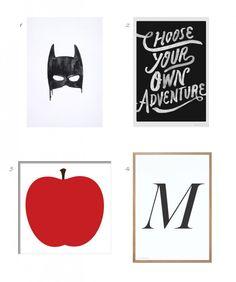 Art Print Edit / Roomie   http://www.roomie.co.nz/adult-friendly-art-prints/