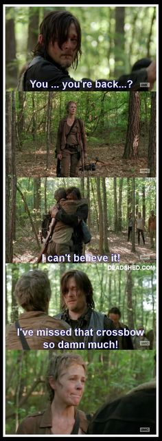 Daryl missed his crossbow