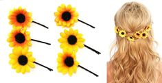 Sunflower Hair Clips