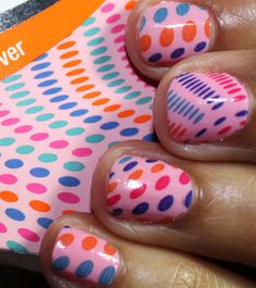 Toe-Riffic - pedi nail apps - shown here on fingers.