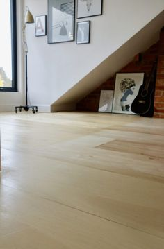 The Plywood Floor - How has it held up?You can find Plywood floors and more on our website.The Plywood Floor - How has it held up? Stained Plywood Floors, Plywood Plank Flooring, Diy Flooring, Painted Floors, Laminate Flooring, Loft Flooring, Flooring Ideas, Concrete Lamp, Concrete Design